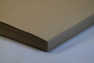 Ribbed Kraft Paper Buff - A5 100 Pack 90 GSM