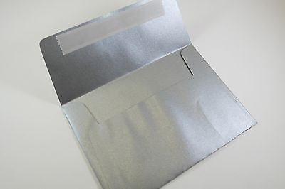 C6 Metallic Silver Envelopes Peel and Seal 120 GSM Straight Flap Pack of 25