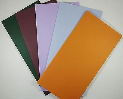 Colorplan DL Envelopes 110 x 220 mm Peel & Seal Wallet Flap 5 Colours 25 pack