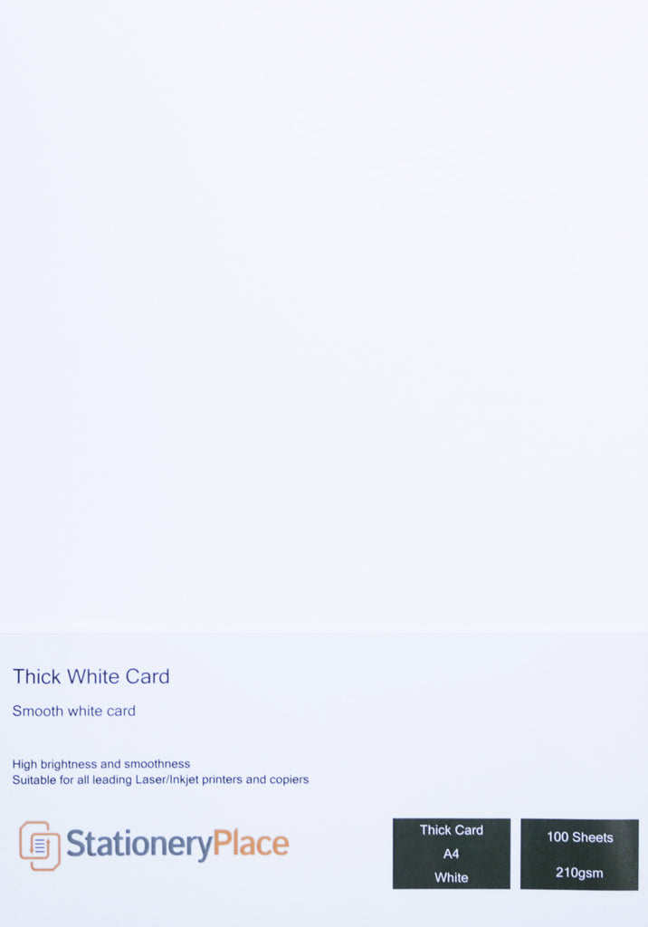 Clairfontaine A4 Thick White Card Premium Quality 210 GSM 100 Sheets Card Blanks