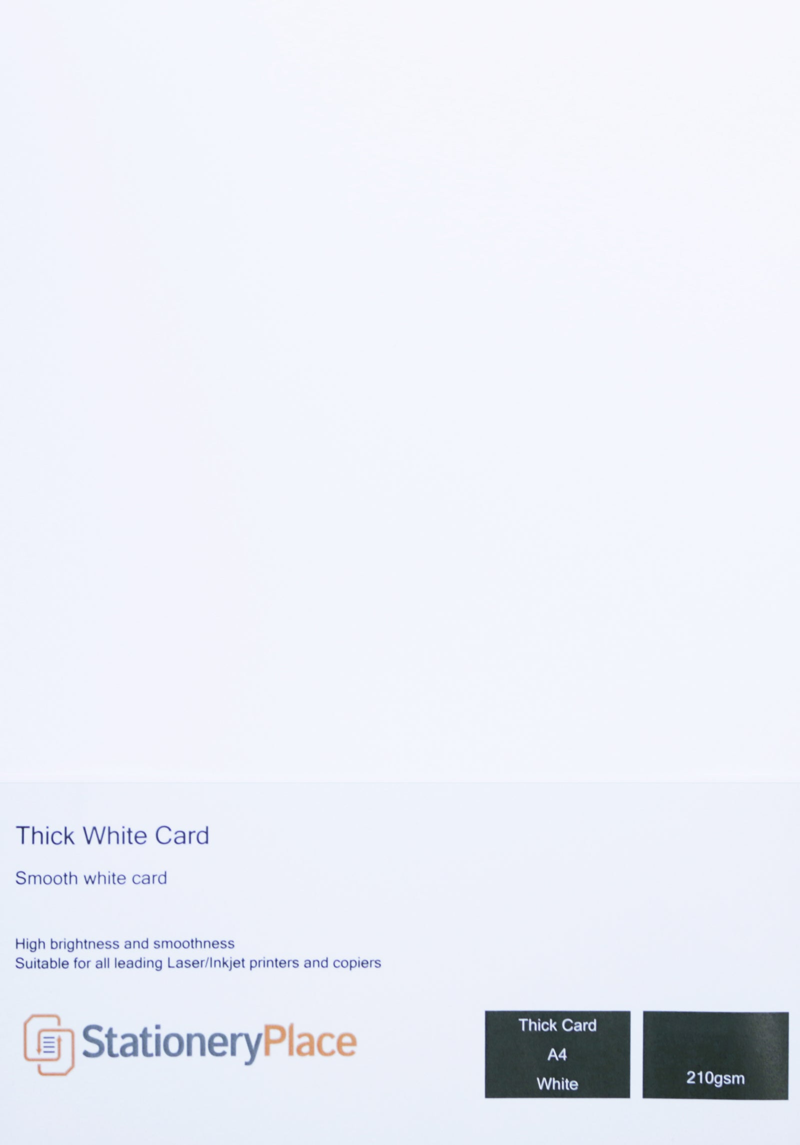 Thick White Card Stationery Place Premium Quality 210 GSM A4 A5 1 to 250 sheets