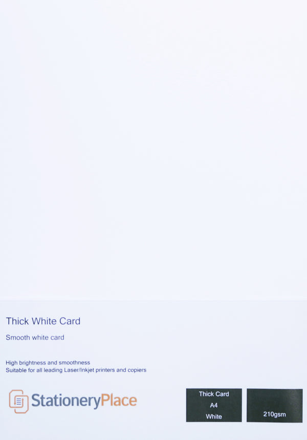 Clairfontaine A4 Thick White Card  Premium Quality 210gsm 50 Sheets