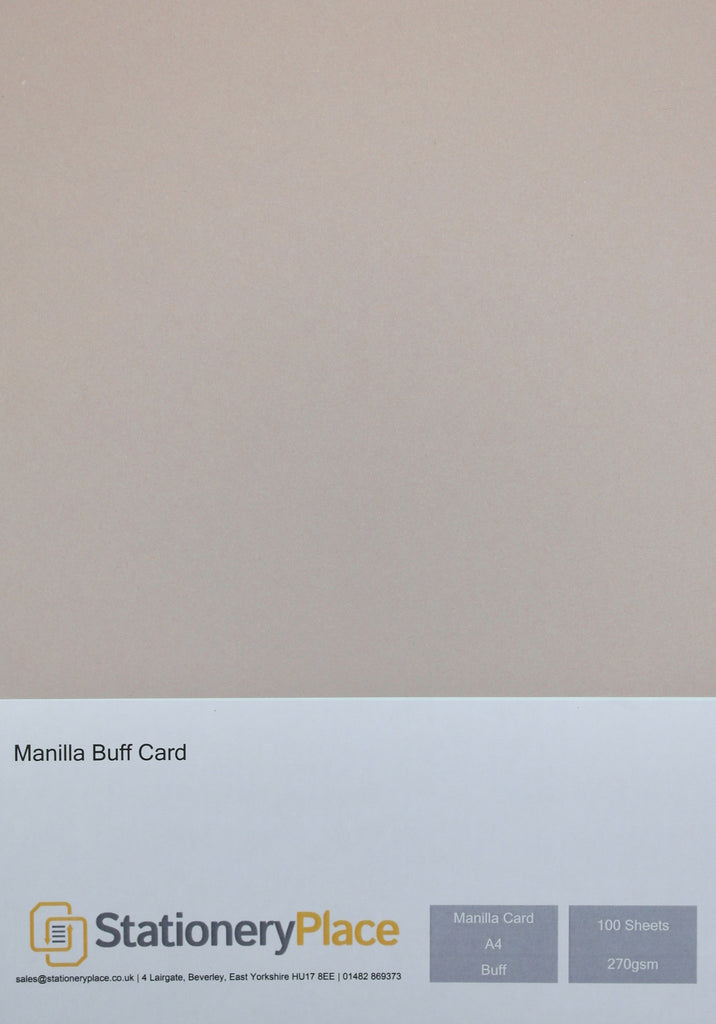 Manila Kraft Card - A4 100 Pack 270GSM