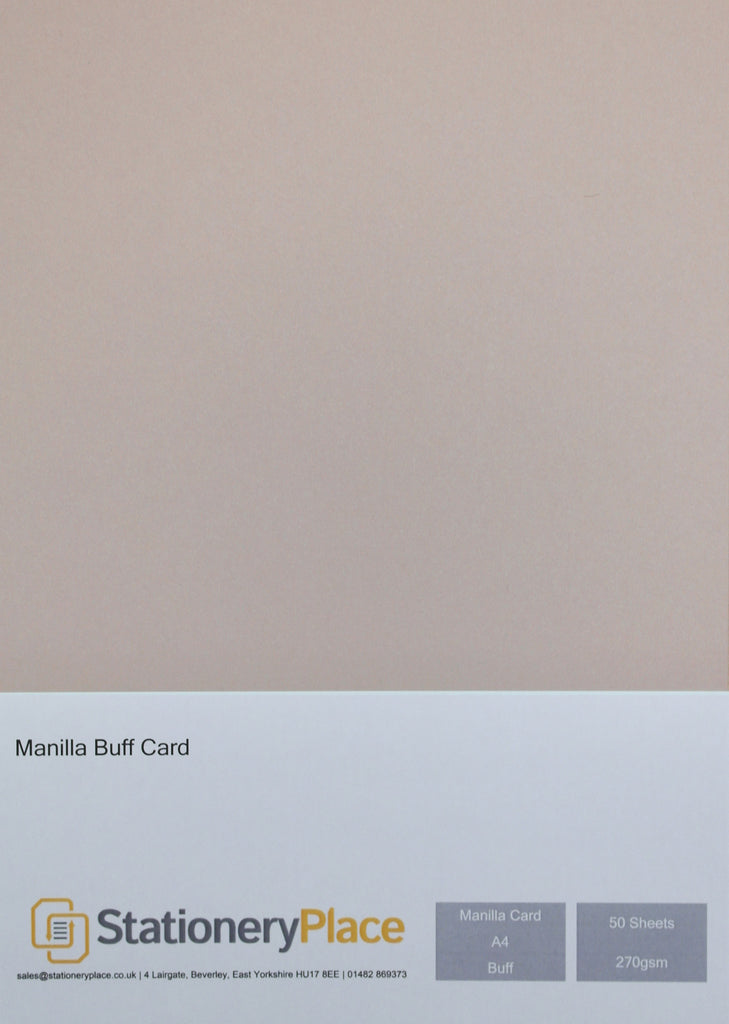 Manila Kraft Card - A4 50 Pack 270GSM
