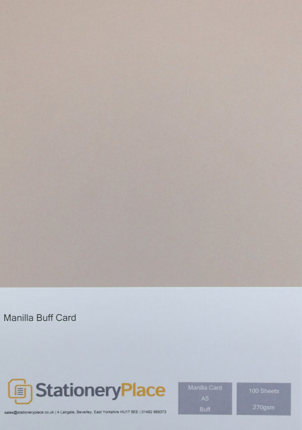 Manila Kraft Card - A5 100 Pack 270GSM