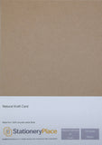 Cardstock Brown Kraft Paper Kraft Card 100% Recycled 90gsm, 100gsm, 130gsm, 170gsm, 280gsm