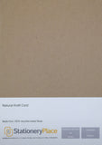 Kraft Card Brown Recycled - A4 20 Pack 280GSM