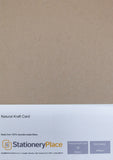 Thick Brown  Kraft Card  Recycled - A4 500 Pack 280GSM Ideal For Weddings Craft