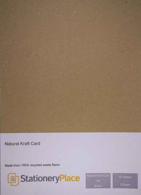 Stationery Place Natural Kraft Card - A4 - 225gsm