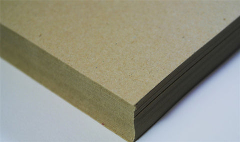 Thick Brown Card Recycled