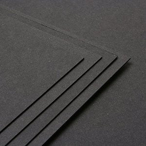 Black A5 Card 210gsm 50 Sheet Pack