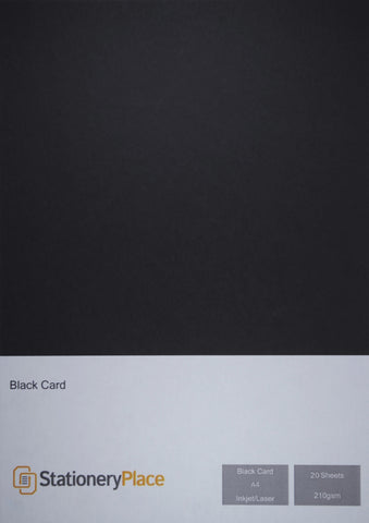 Black Craft Card A4 Card 210gsm