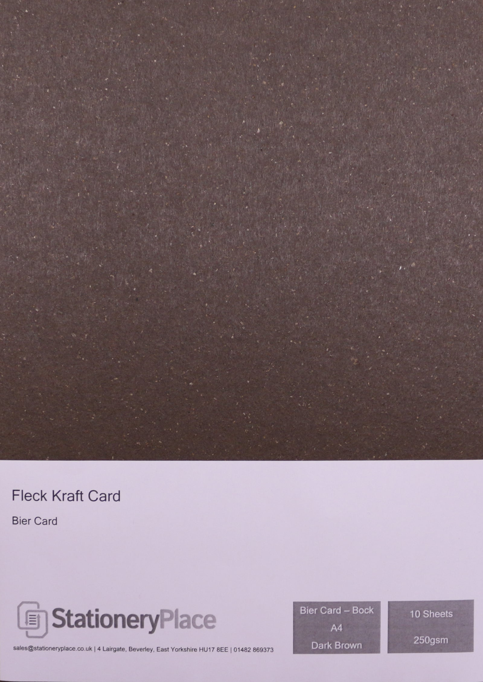 Bier Premium Quality A4 Fleck Craft Card 250gsm. 100% Recycled Kraft Card. Choice of Colour 10 sheet packs