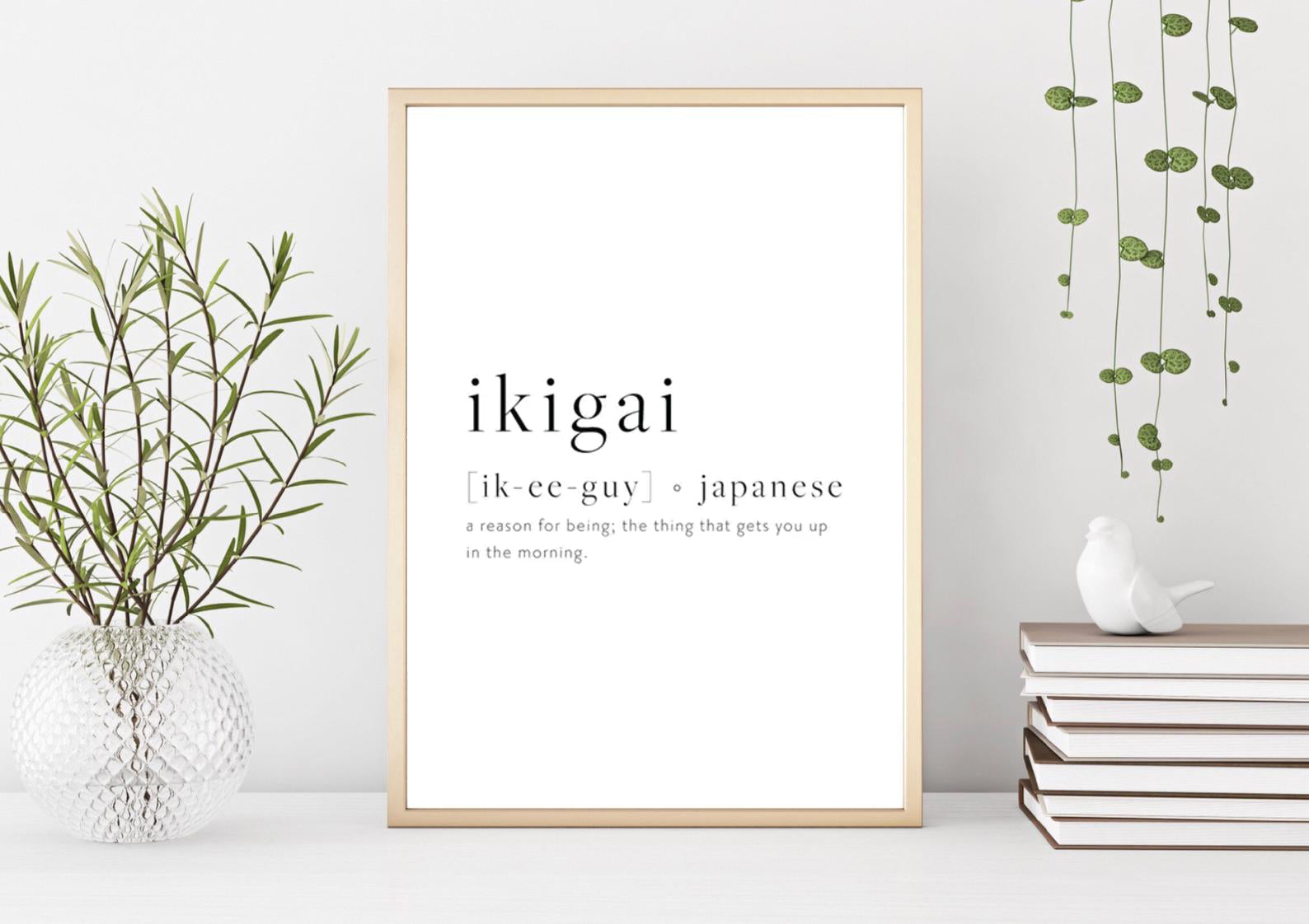 Ikigai Quote Print Poster