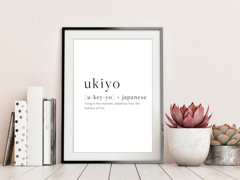 Ukiyo Quote Wall Poster