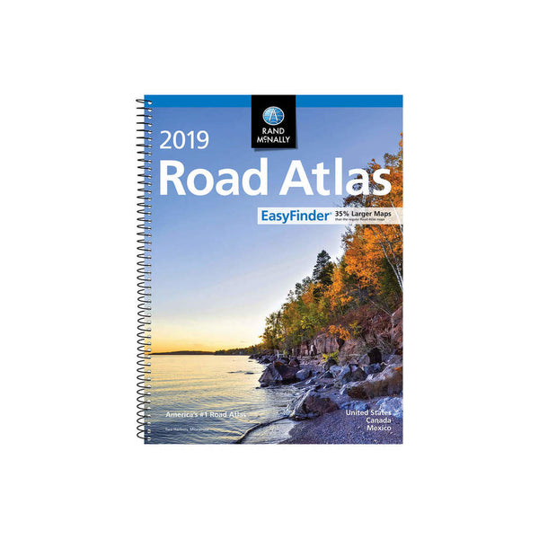 2019 Easy Finder Midsize Road Atlas Rand McNally