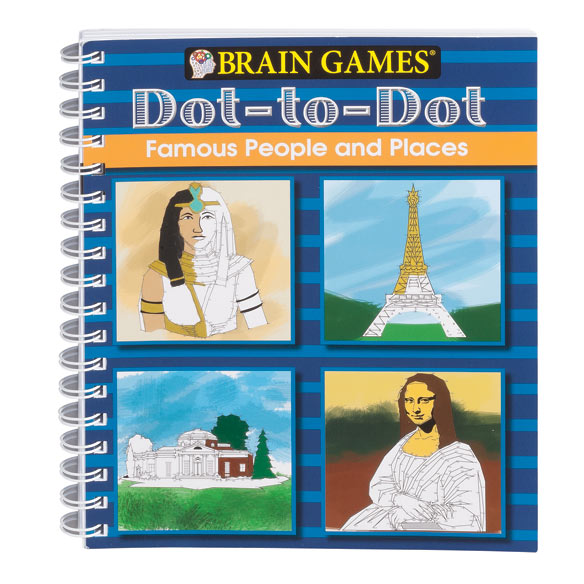 Brain Games Dot-to-Dot Famous People and Places