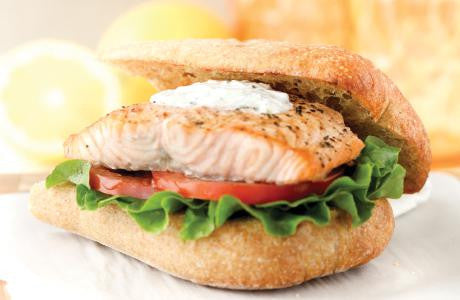Grilled Salmon with Lemon Vinaigrette (BOXED)