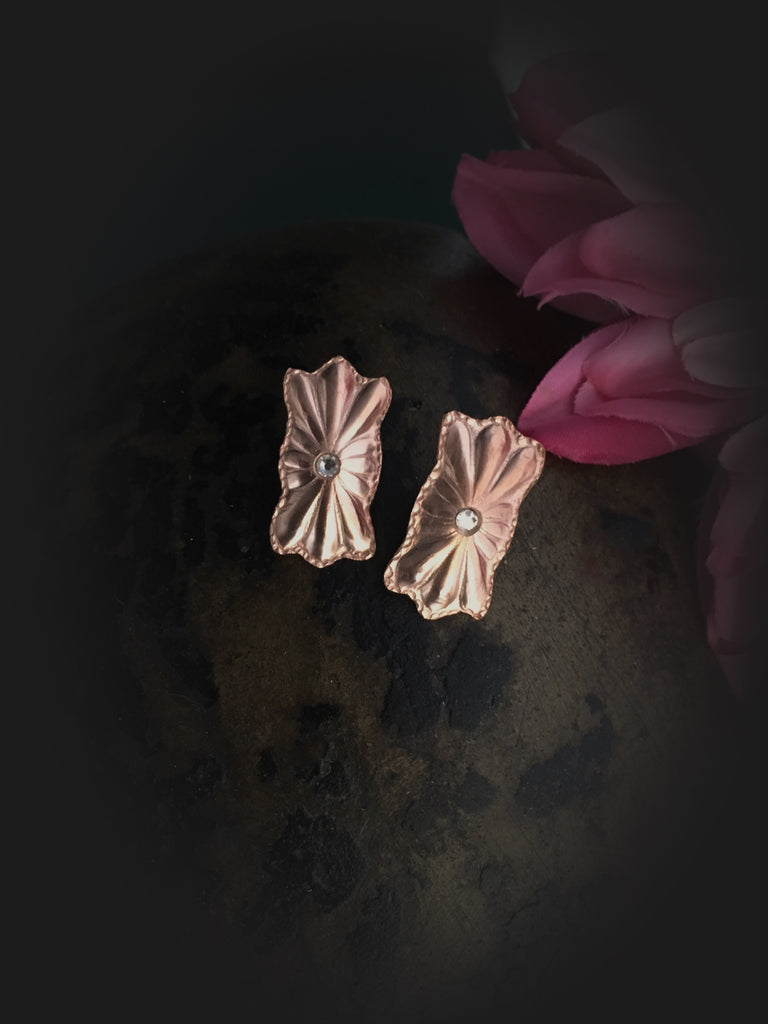 Copper Post Earrings