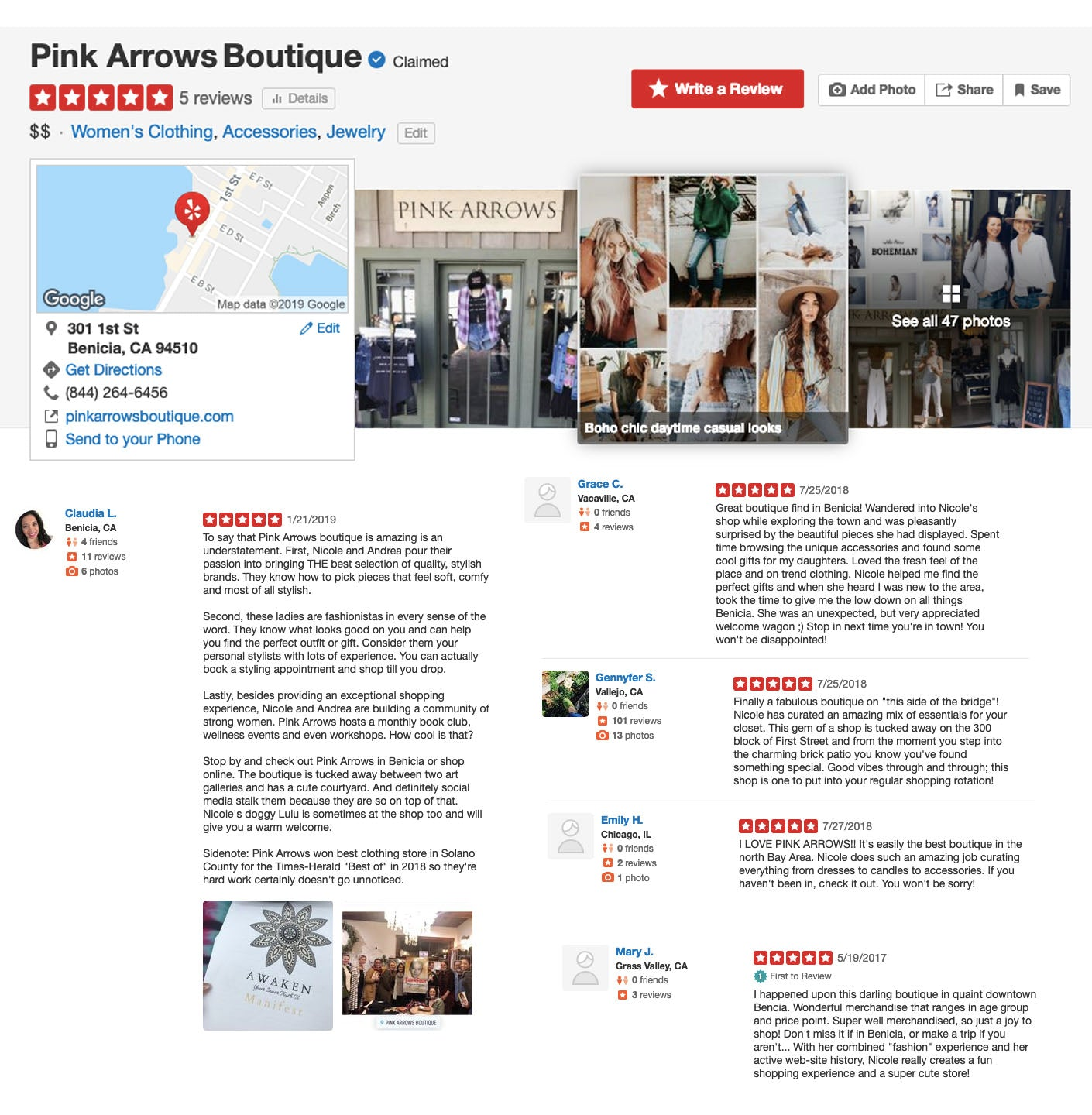 Pink Arrows Reviews on Yelp
