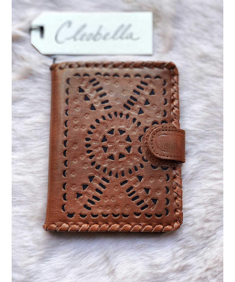 Mexicana Small Wallet, Cognac