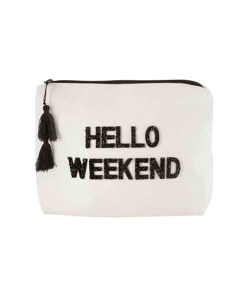 Hello Weekend Crystal Bikini Bag
