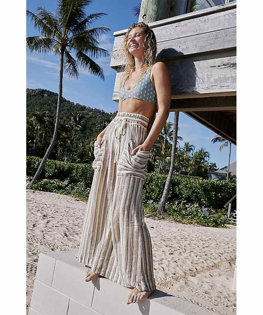Jones Beach Wide Leg Pant Army Combo
