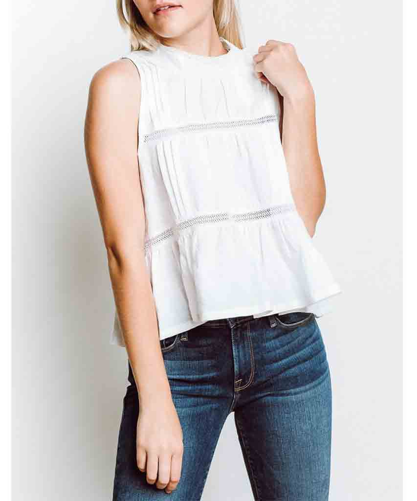 Saint Simone Linen Top