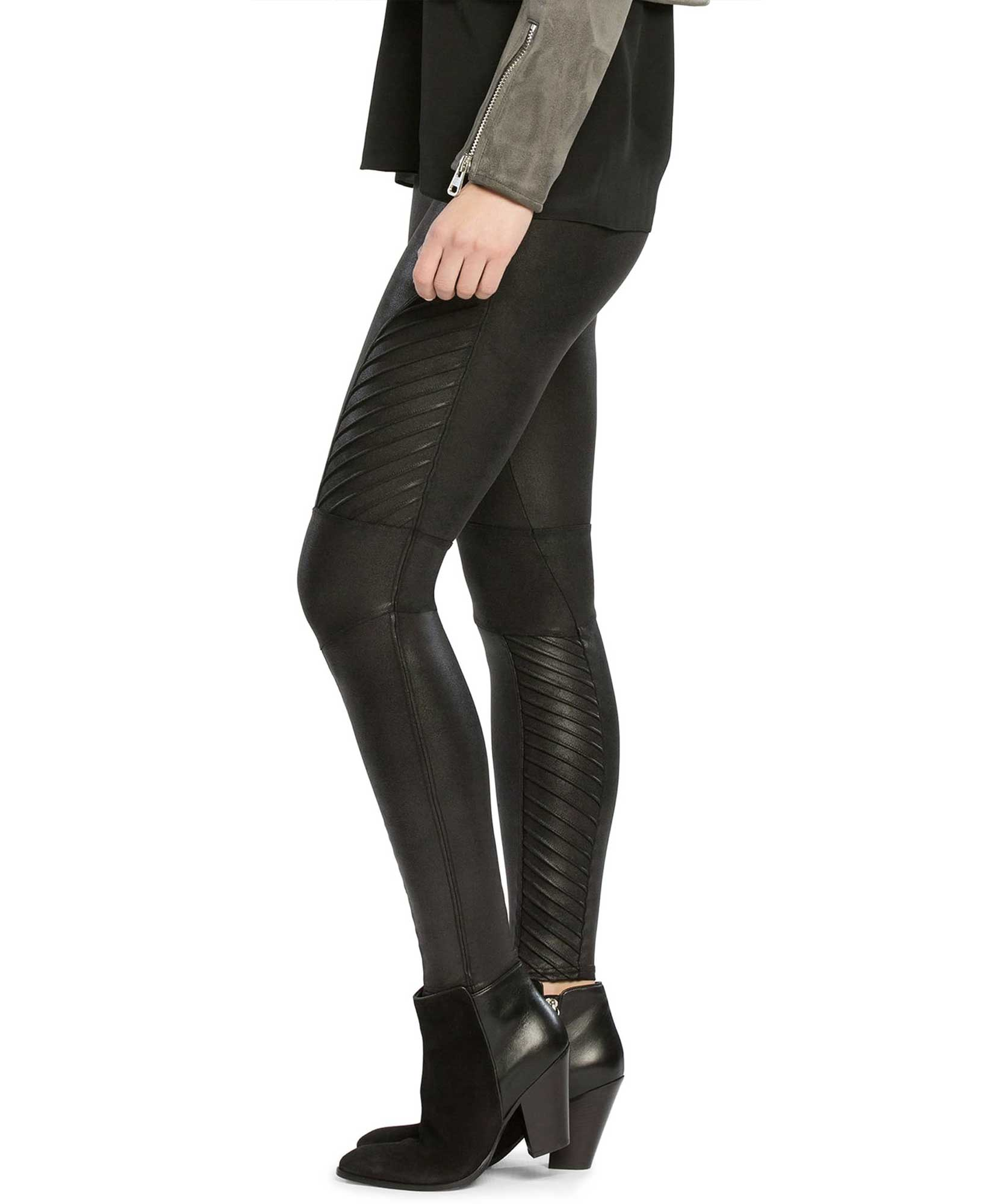 53072dbbfbe Faux Leather Moto Leggings - Pink Arrows