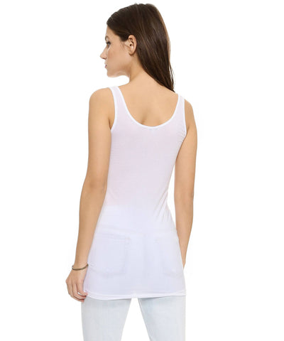 Layers Long White Tank  Tank Tops, Splendid,- Pink Arrows Boutique