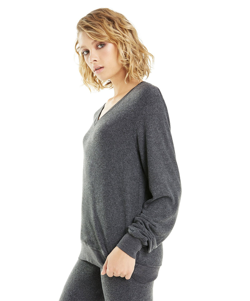 Baggy Beach VNeck, Grey