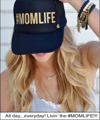 MOMLIFE Trucker Hat  Hats, Mother Trucker,- Pink Arrows Boutique