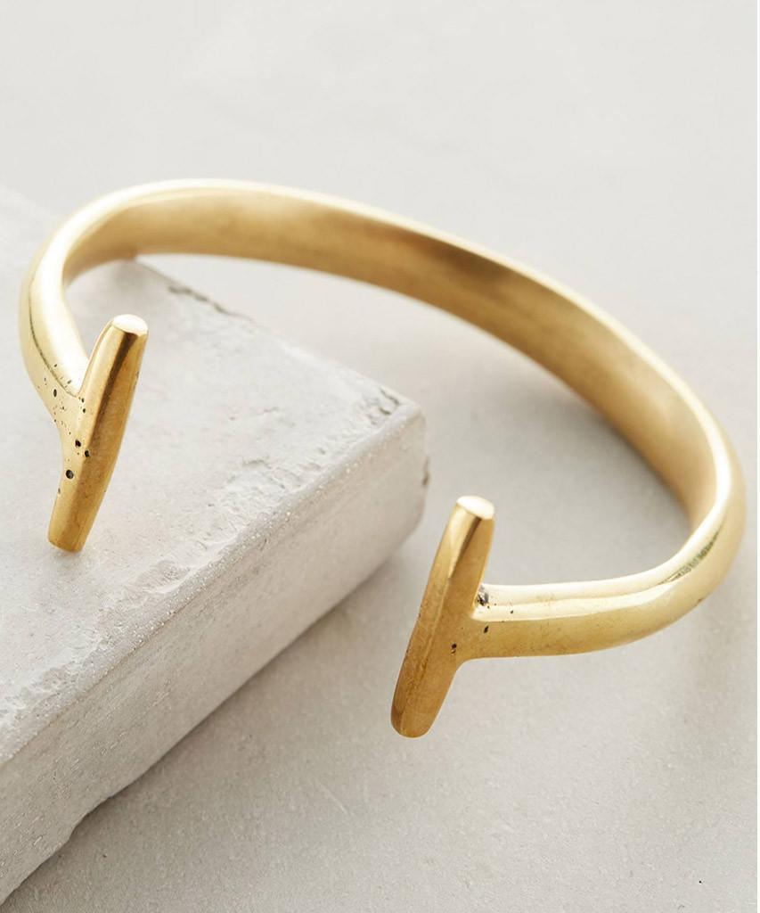 Gold Double Bar Cuff  Bracelets, Soko,- Pink Arrows Boutique