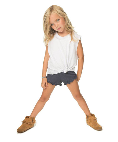 kids ruffle knit shorts