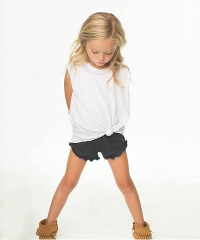 kids ruffle knit shorts  Kids Bottoms, Chaser Brand,- Pink Arrows Boutique