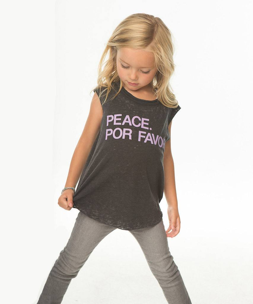 kids peace por favor tank  Kids Tops, Chaser Brand,- Pink Arrows Boutique