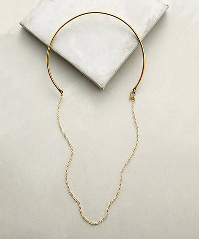 Gold Chain Choker Necklace  Necklaces, Soko,- Pink Arrows Boutique