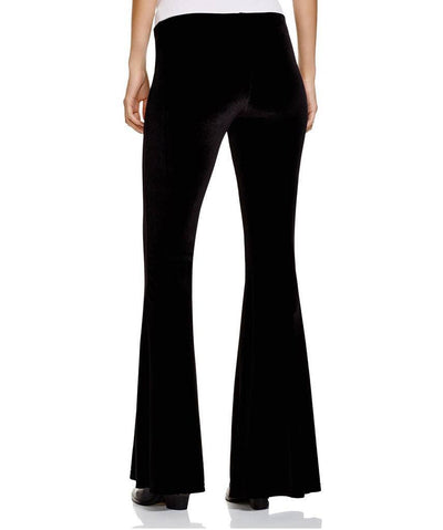 Velour Flare Black Pant  Pants, Free People,- Pink Arrows Boutique