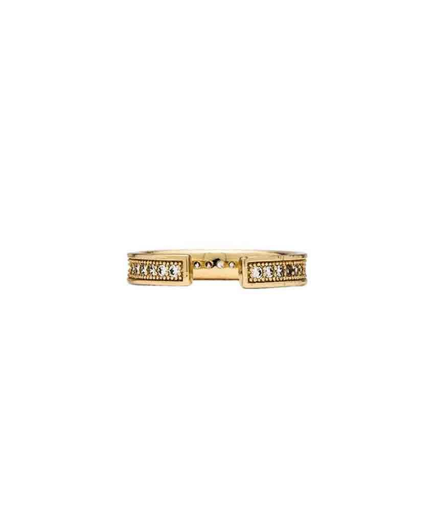 Pave Gold Midi  Rings, Melanie Auld,- Pink Arrows Boutique