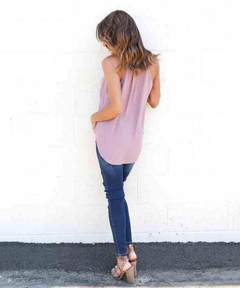 JoJo Wrap Top  Tank Tops, Pink Arrows,- Pink Arrows Boutique