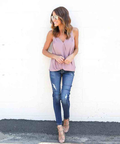 JoJo Wrap Top - Pink Arrows Boutique