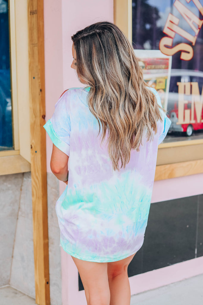 Tie Dye Obsession Top - Blue