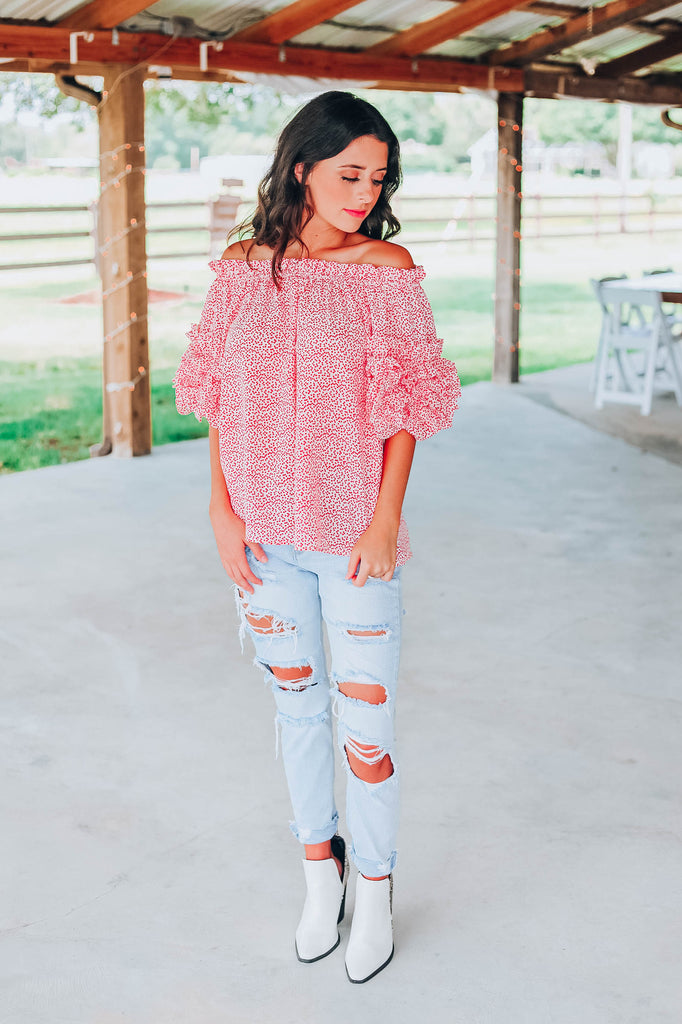 Keep It Current Off The Shoulder Blouse