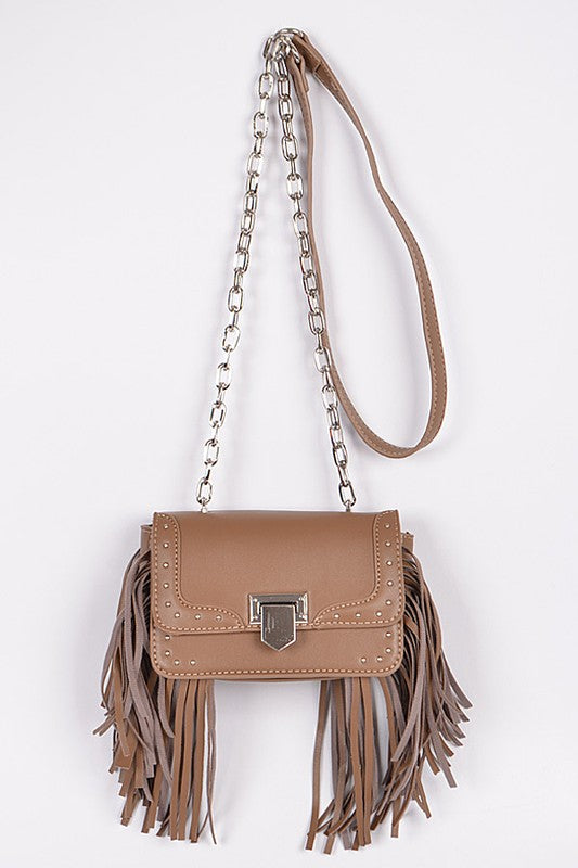 Meet You Soon Tassel Purse - Brown