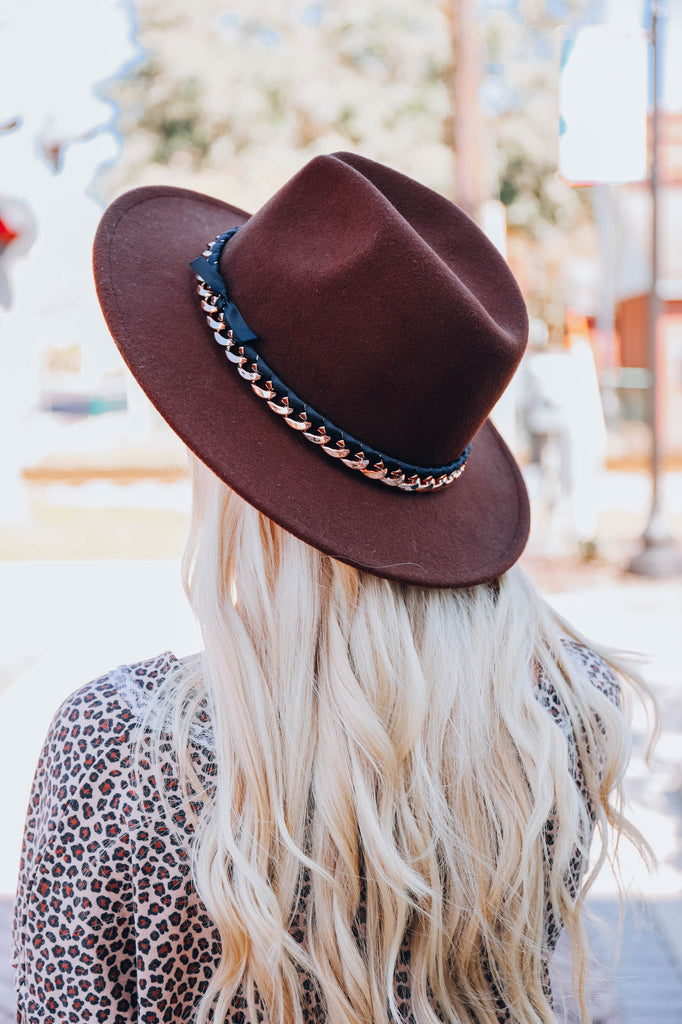 Fancy Fun Fedora Hat - Coffee