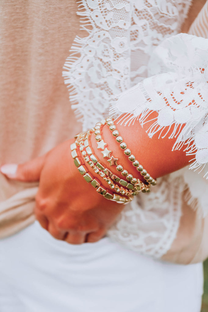 Come Around Star Layered Bracelet Set