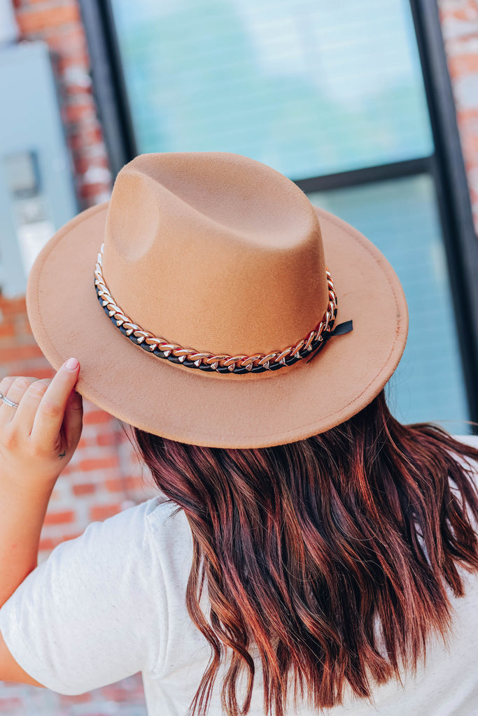 Fancy Fun Fedora Hat - Khaki