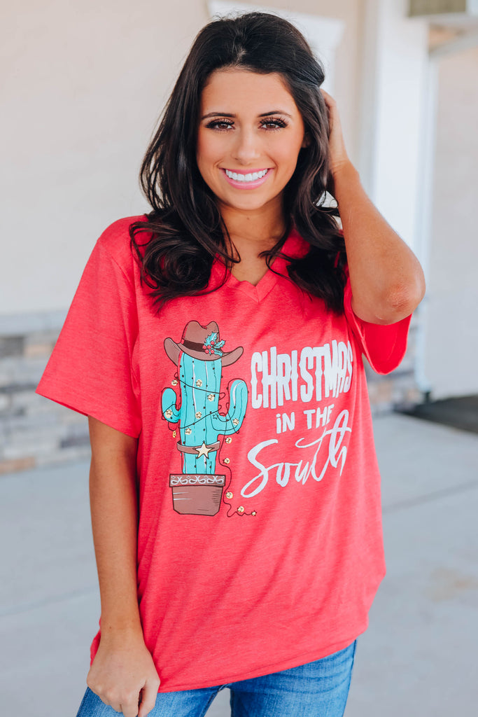 Christmas In The South Graphic Tee