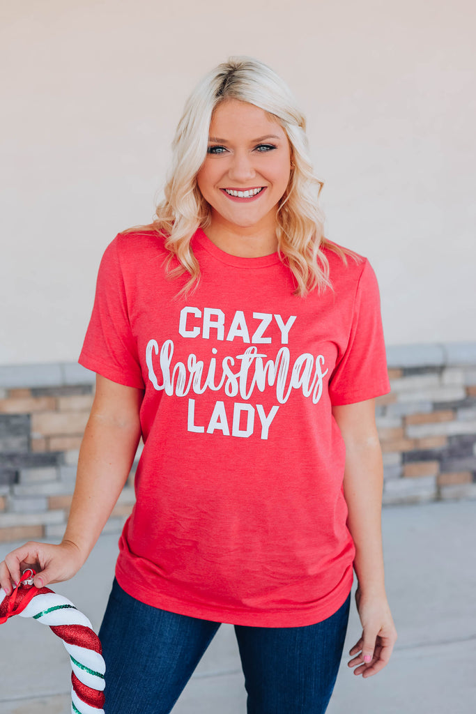 Crazy Christmas Lady Graphic Tee