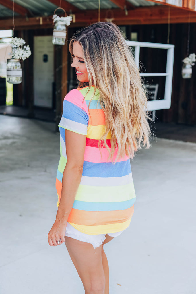 Lost In My Dreams Multi-Color Striped Top